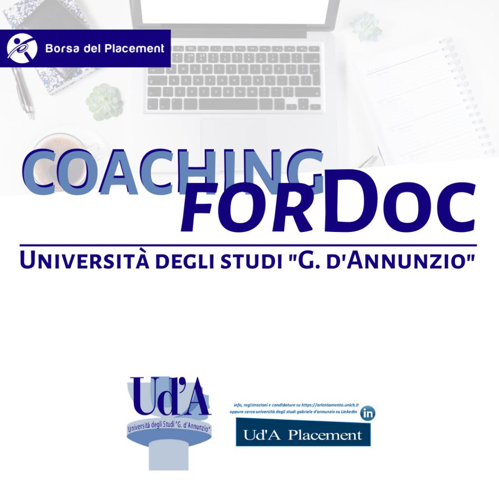 Coaching forDoc   Università degli Studi 'G. d'Annunzio'