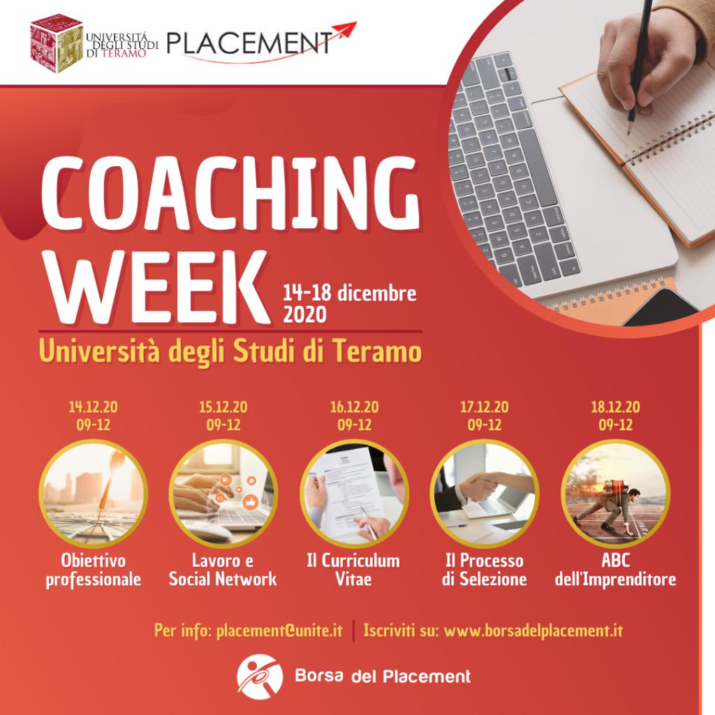 Coaching Week   Università degli Studi di Teramo