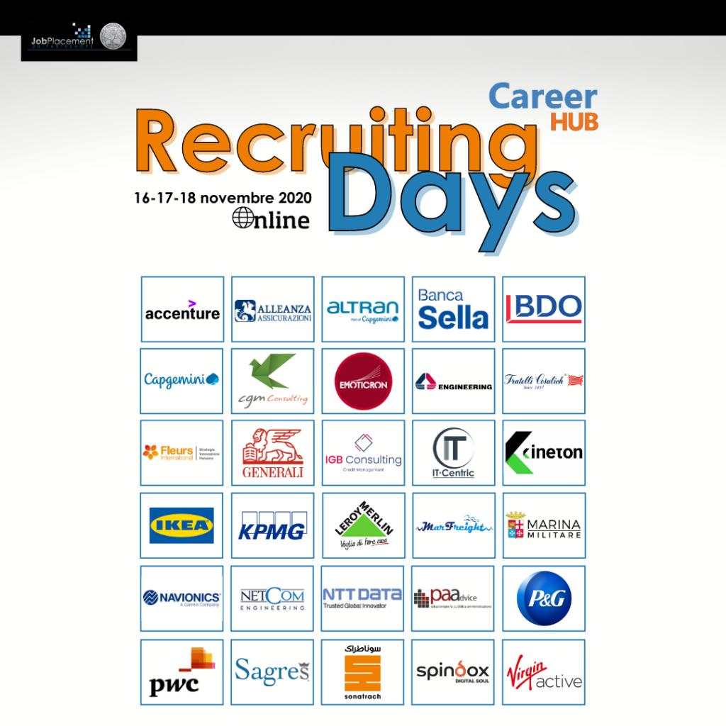 Recruiting Days   Career HUB   UniParthenope
