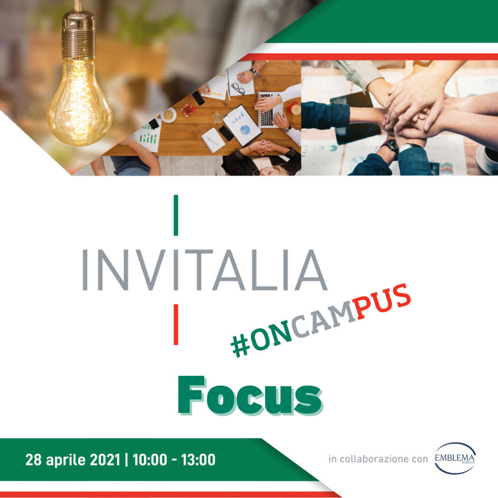 Invitalia #oncampus | Focus