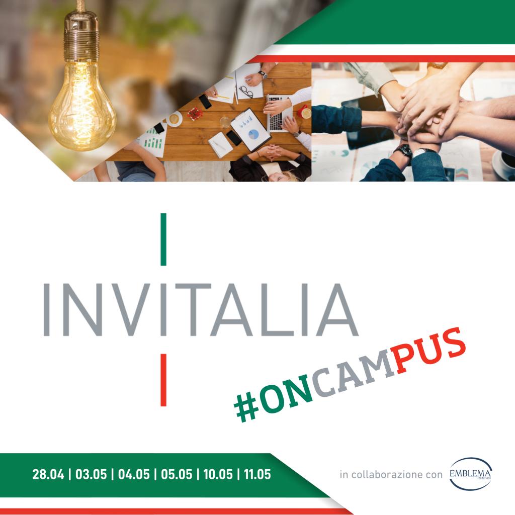 Invitalia #oncampus 2021   3 - 11 maggio