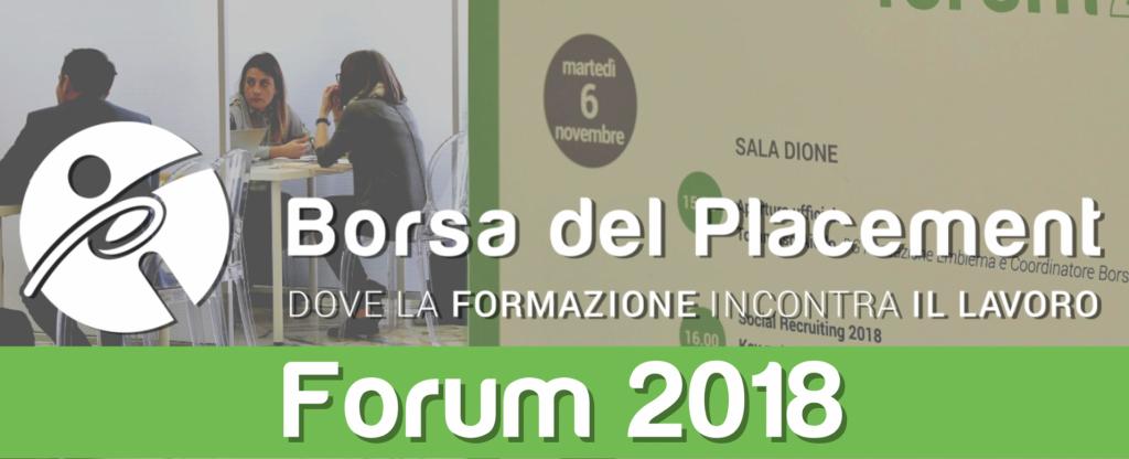 12.11.2018 - Borsa del Placement | XII Forum